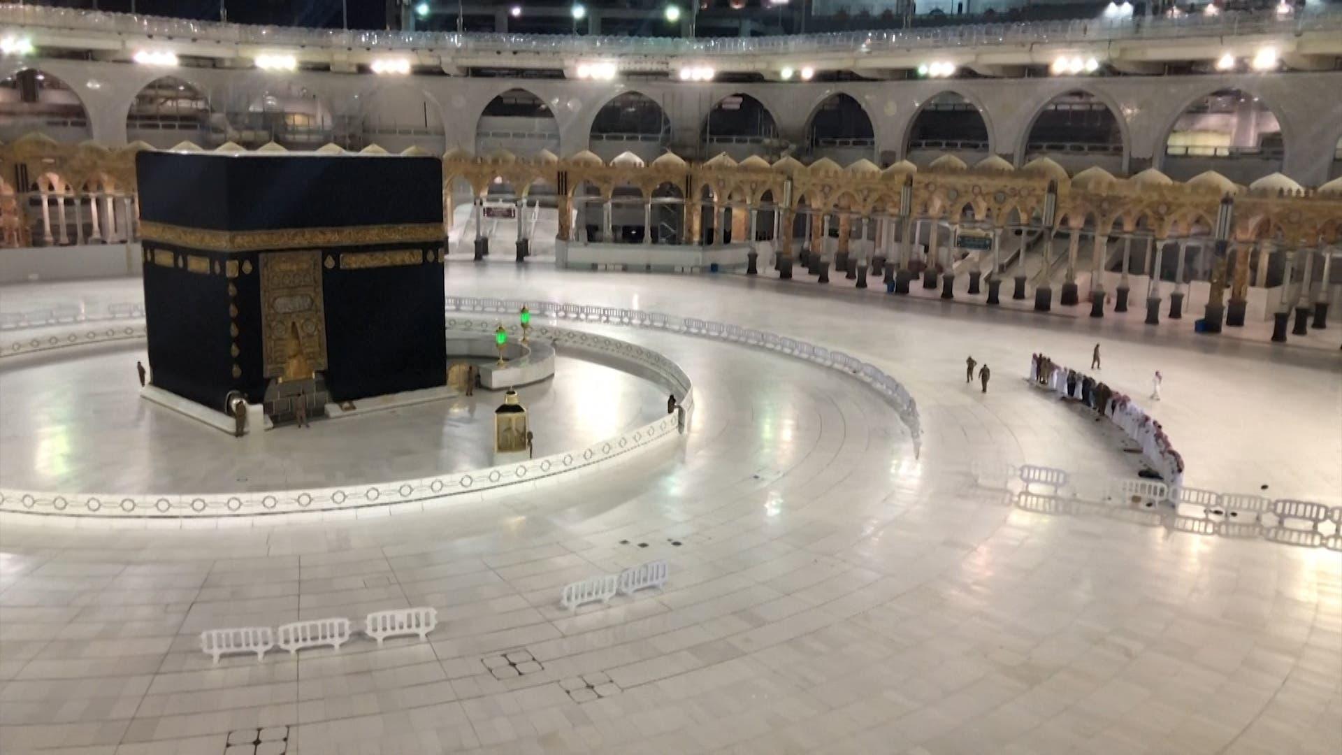 Eid prayers were held in Mecca, Saudi Arabia with no worshippers present. (File photo)