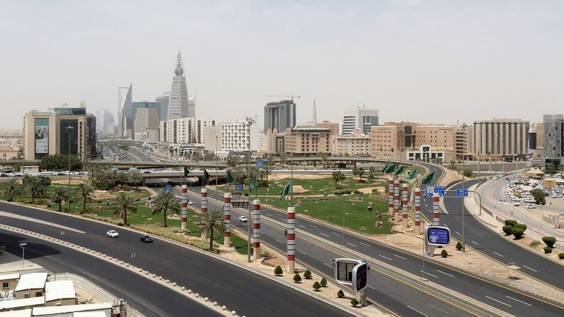 A general view shows almost empty streets, during the 24 hours lockdown to counter the coronavirus disease (COVID-19) outbreak in Riyadh, Saudi Arabia. (Reuters)