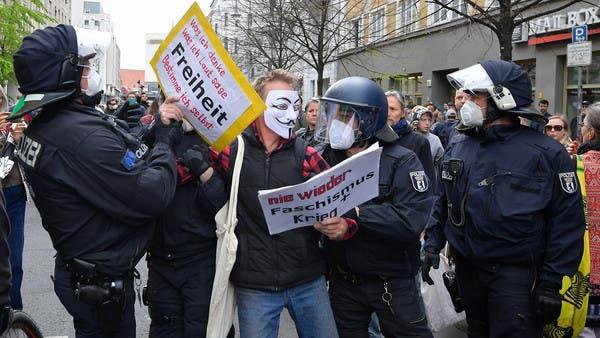 """""""أريد استعادة حياتي"""".. مظاهرة ضد إجراءات العزل بألمانيا"""