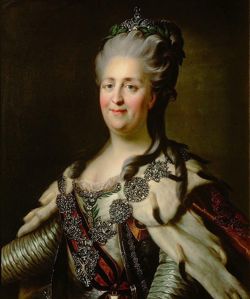 لوحة تجسد الإمبراطورة كاترين العظيمة