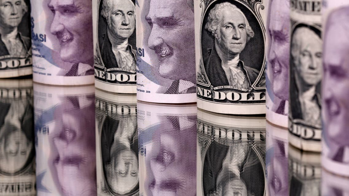 Turkish lira and US dollar banknotes are seen in this illustration taken on January 6, 2020. (Reuters)