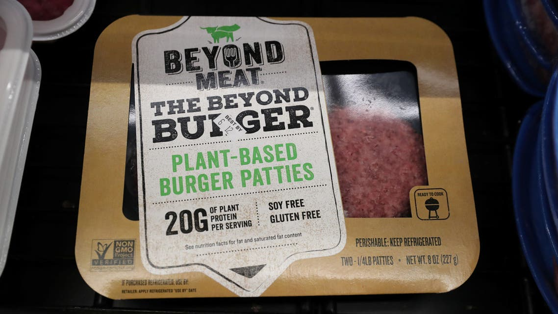 A Beyond Meat Burger is seen on display at a store in Port Washington, New York. (File photo: Reuters)