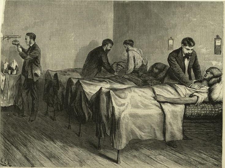 لوحة تجسد أعدادا من المصابين بالكوليرا بنيويورك