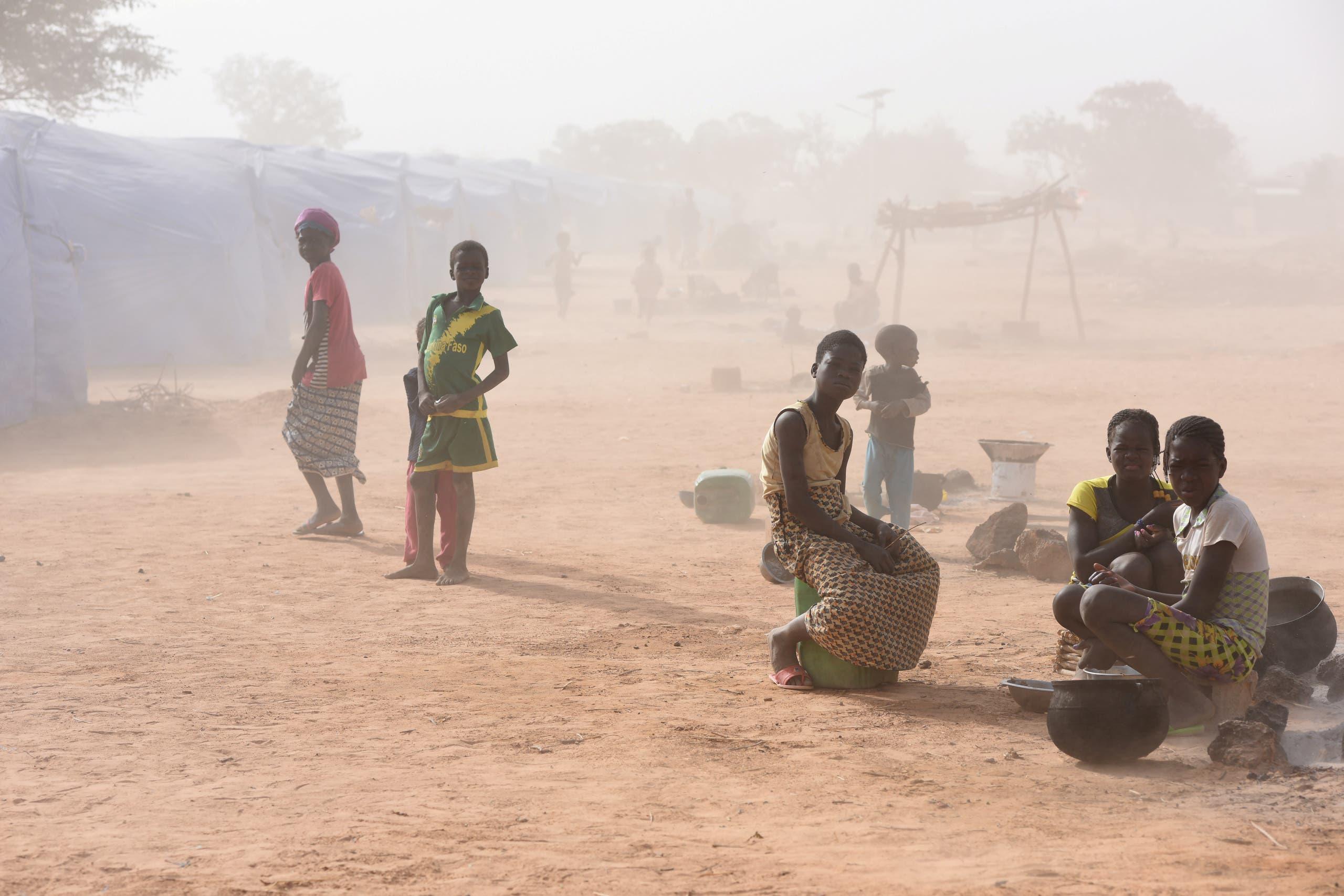 مخيم للنازحين في بوركينا فاسو