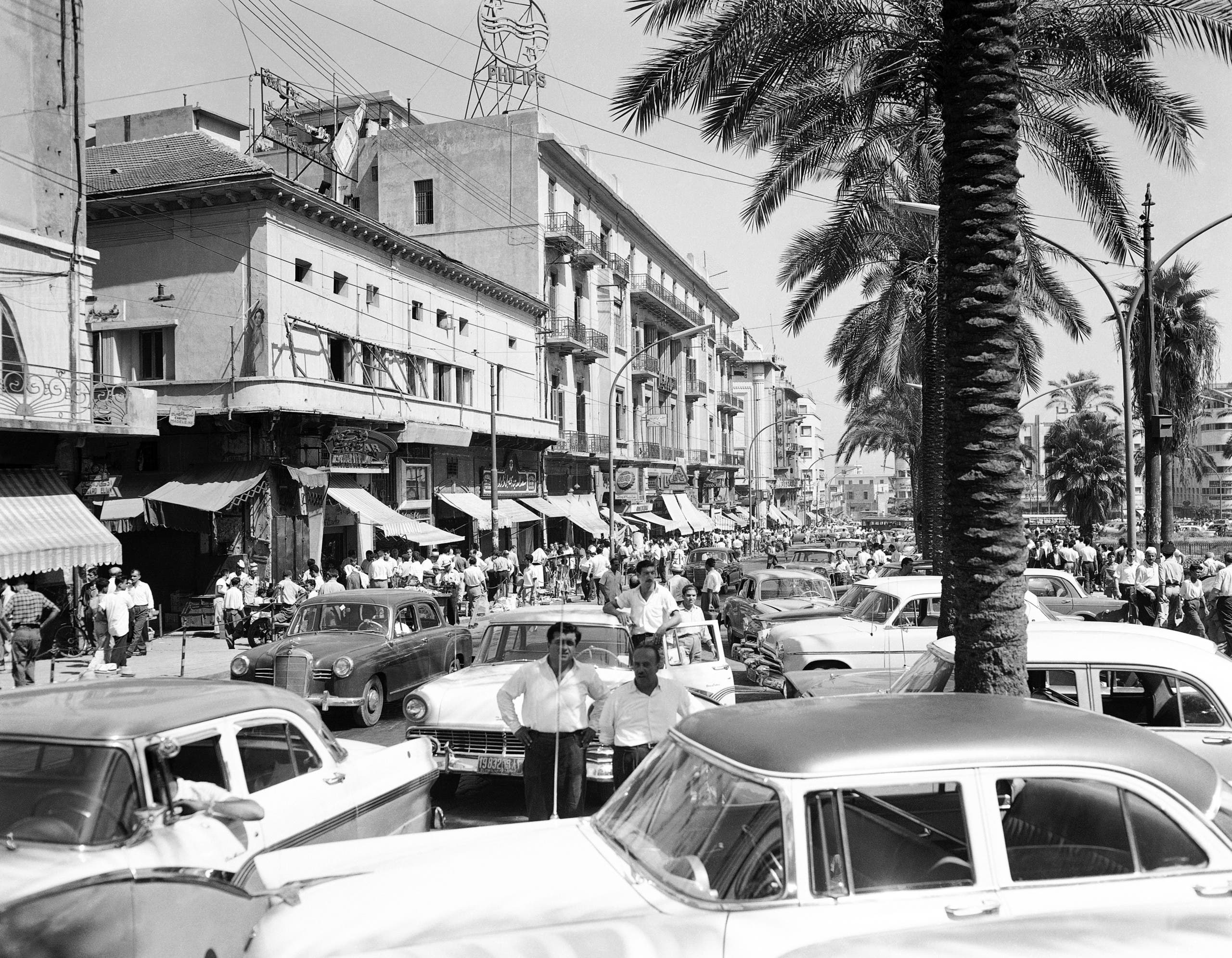 A street in Beirut on May 19, 1958. (AP)