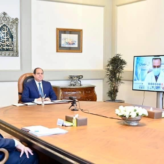 مصر.. السيسي يجتمع بمديري مستشفيات عزل مصابي كورونا