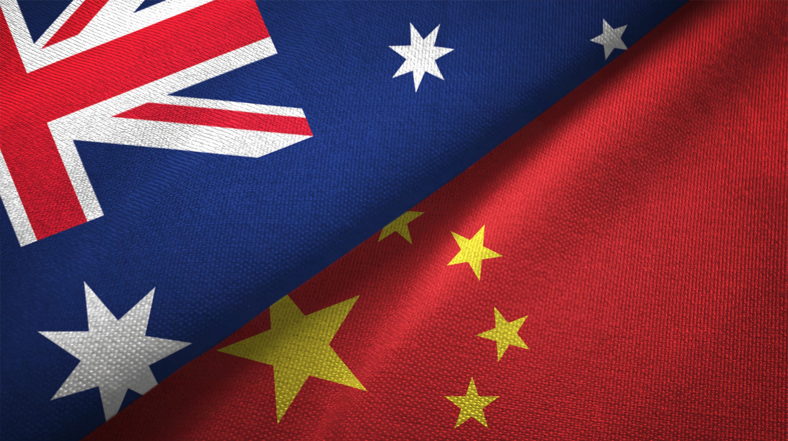 China and Australia flags flying together (File photo)