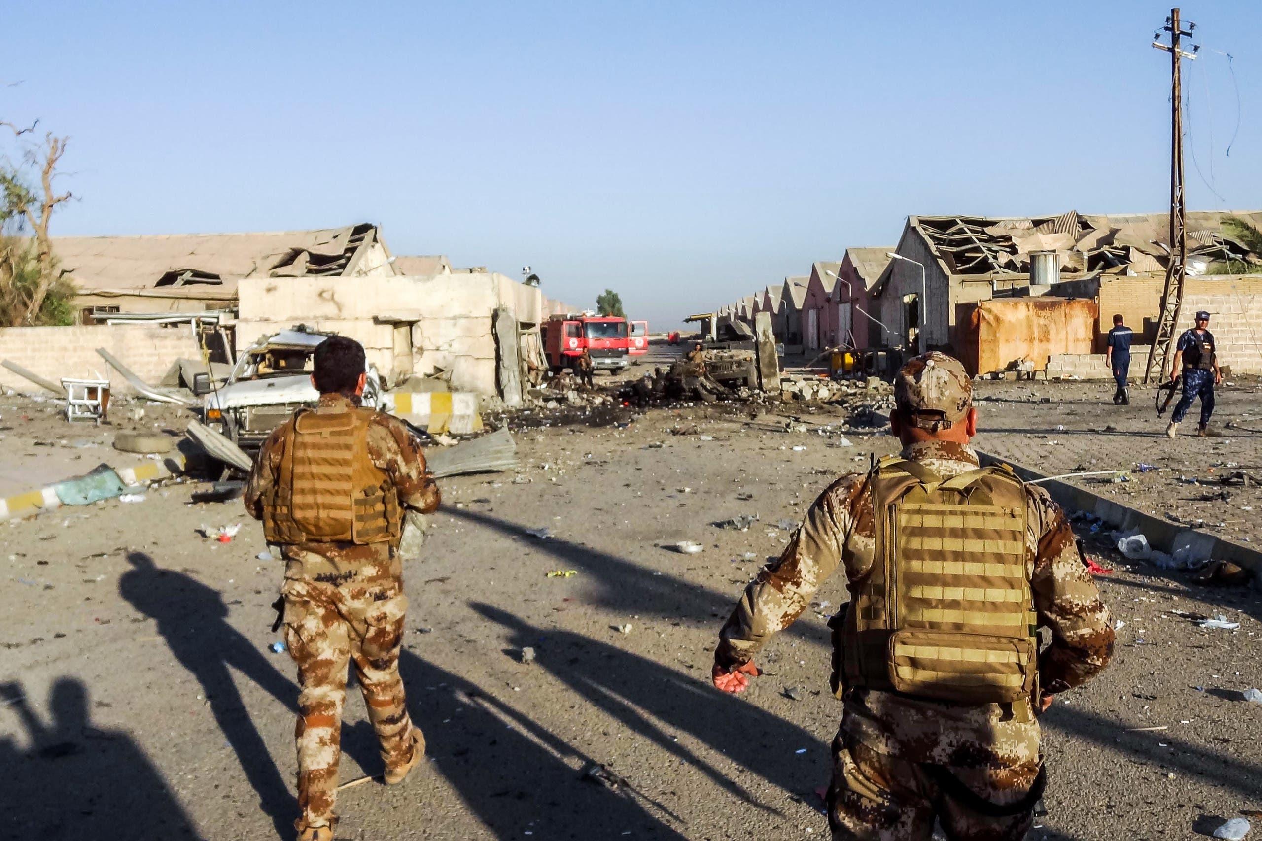 قوات مكافحة الإرهاب في كركوك بعد هجوم على مركز لمفوضية الانتخابات في 2018
