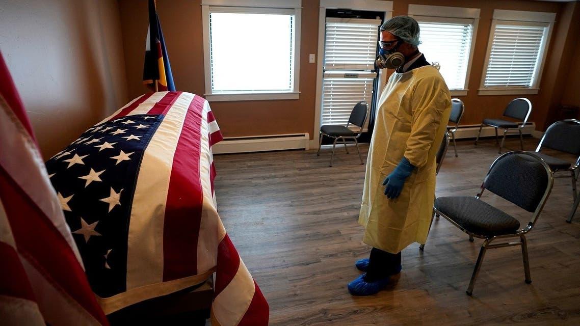 Viewing of Korean War veteran who died of the coronavirus disease (COVID-19), in Denver. (File photo: Reuters)