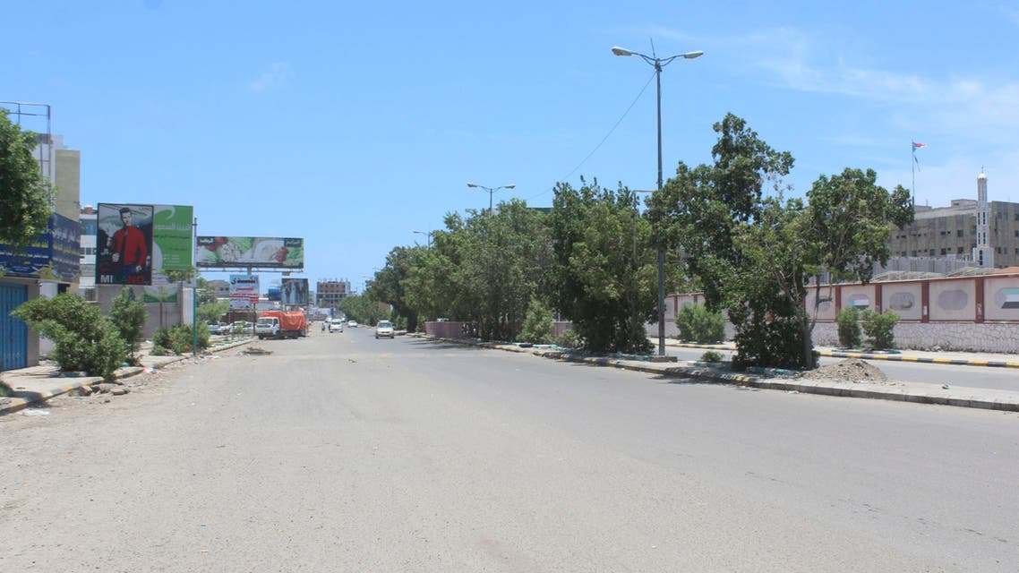 A general view shows an empty highway in the southern city of Aden, on April 26, 2020, after the separatist Southern Transitional Council (STC) declared self-rule in the south of the country. The declaration comes as a peace deal with the government crumbled, complicating a long and separate conflict with Huthi rebels who control much of the north.