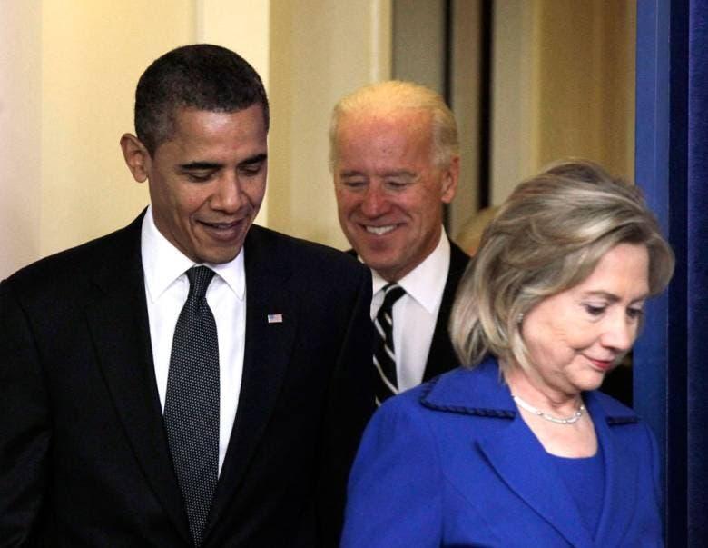 هيلاري وأوباما وبايدن
