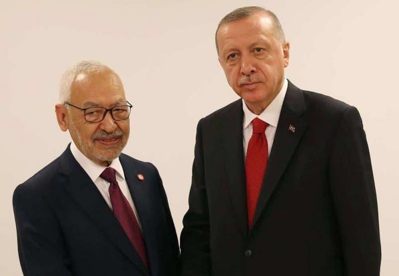 رجب طيب أردوغان وراشد الغنوشي