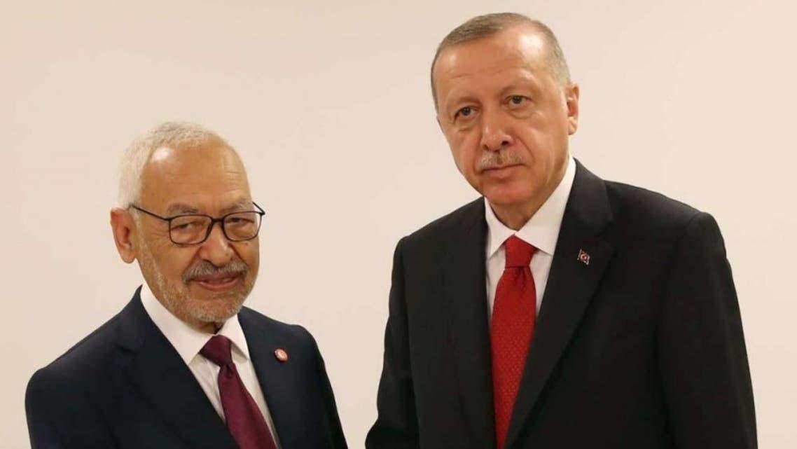 رجب طيب أردوغان و راشد الغنوشي