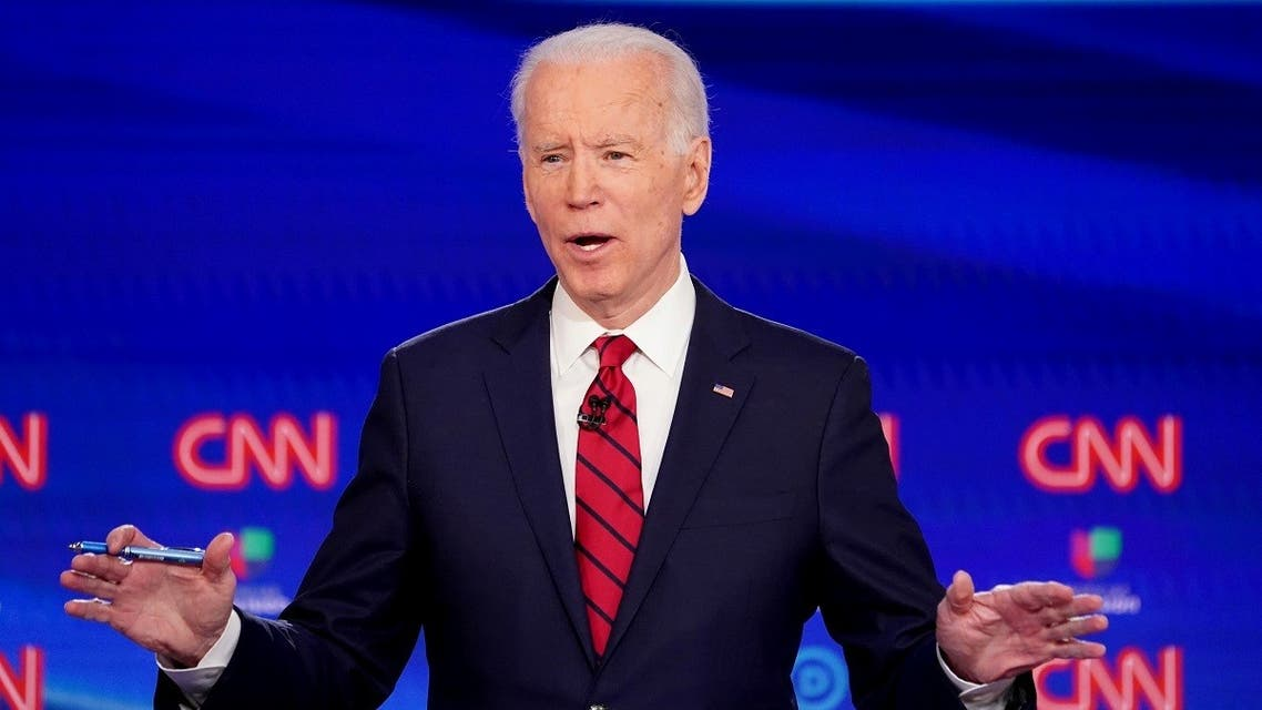 Democratic U.S. presidential candidate and former Vice President Joe Biden speaks at the 11th Democratic candidates debate. (Reuters)