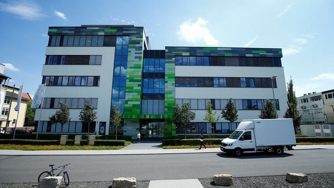 The headquarters of biopharmaceutical company BioNTech are seen in Mainz, Germany. (Reuters)