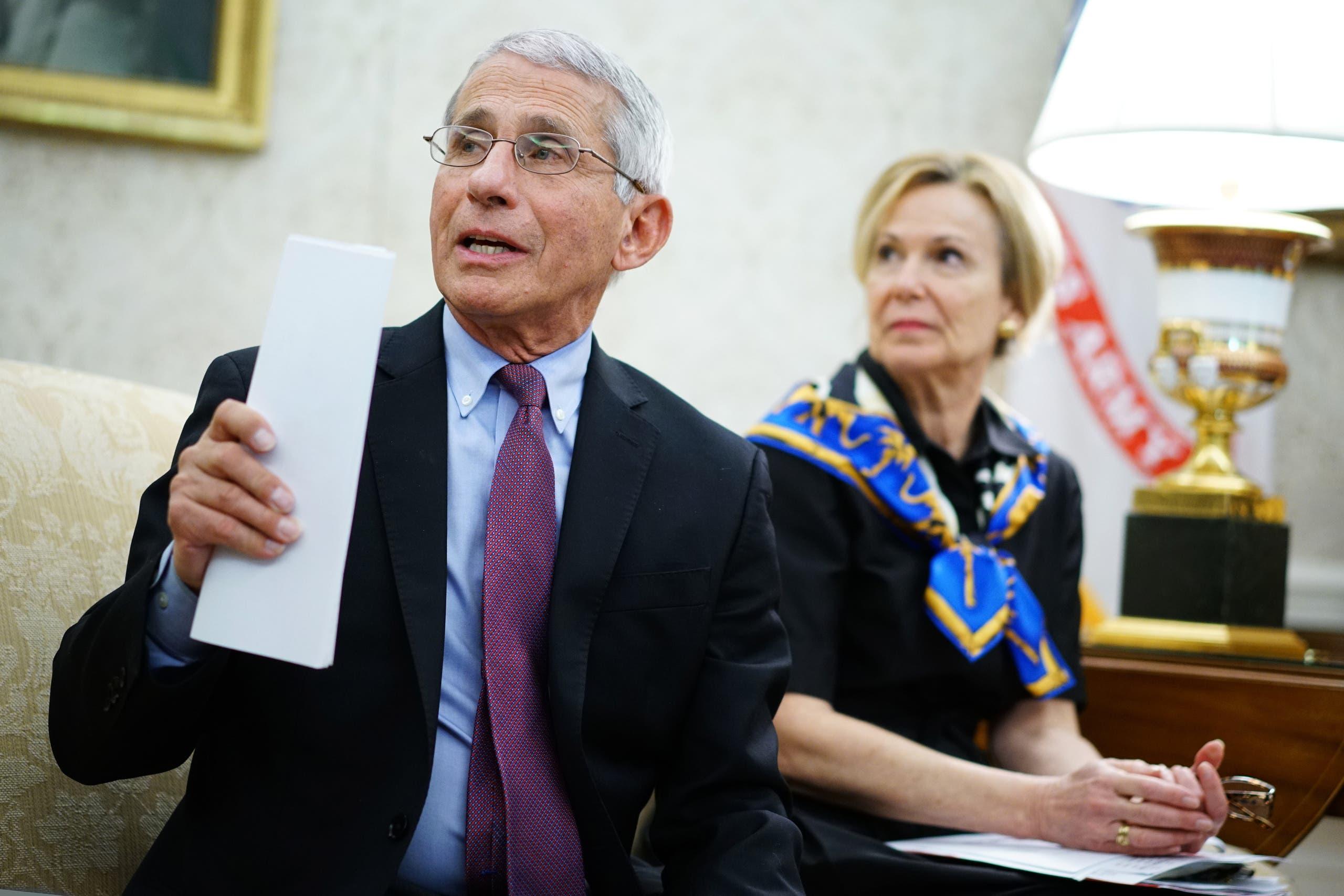 مدير المعهد الوطني للأمراض المعديةفي الولايات المتحدة، أنطوني فاوتشي