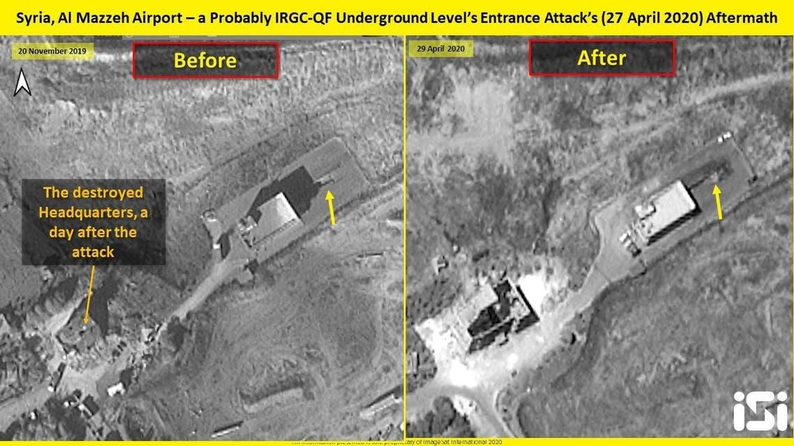 صور الموقع قرب دمشق بحسب ما زعمت الرشكة الإسرائيلية