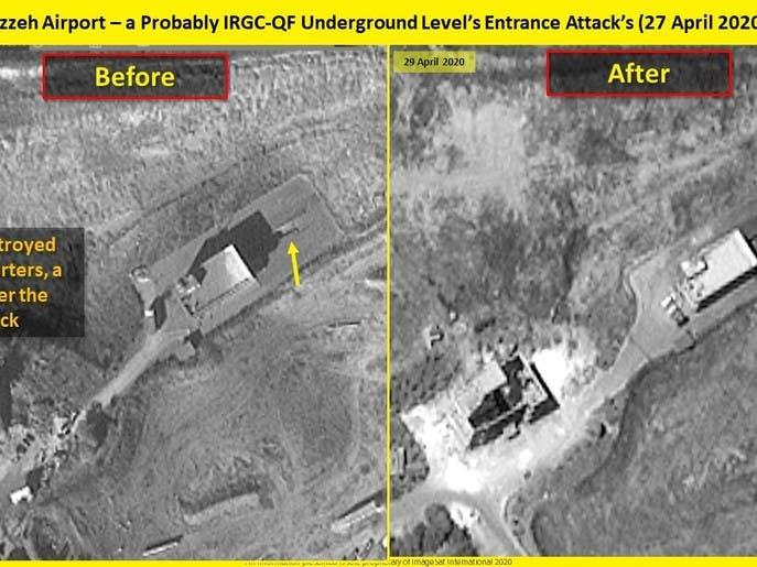 عکسهای ماهوارهای از ورودی زیر زمین مخفی ایران در نزدیکی دمشق