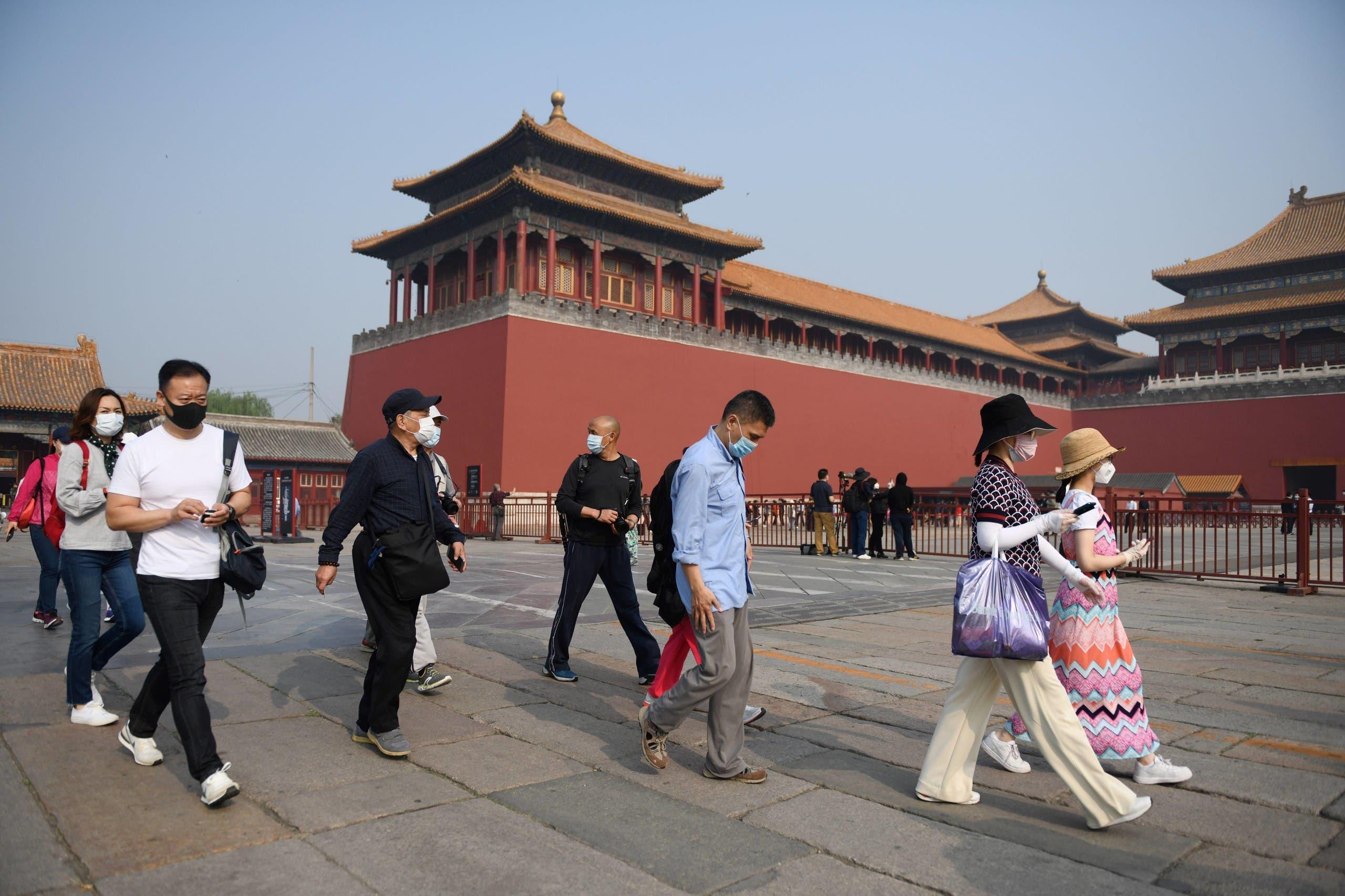 من المدينة المحرمة أحد المعالم السياحية في بكين (فرانس برس)