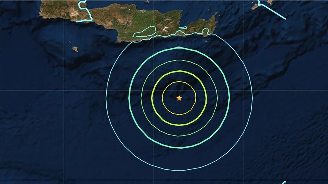 The epicenter of the earthquake on May 2. ( USGS)