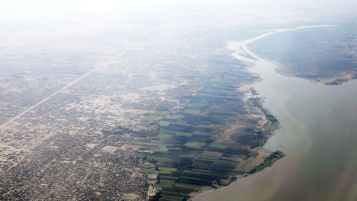 A general view of the Blue Nile over Khartoum, Sudan. (AP)