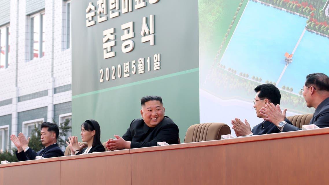 كيم يونغ أون في أحدث ظهور له (رويترز)