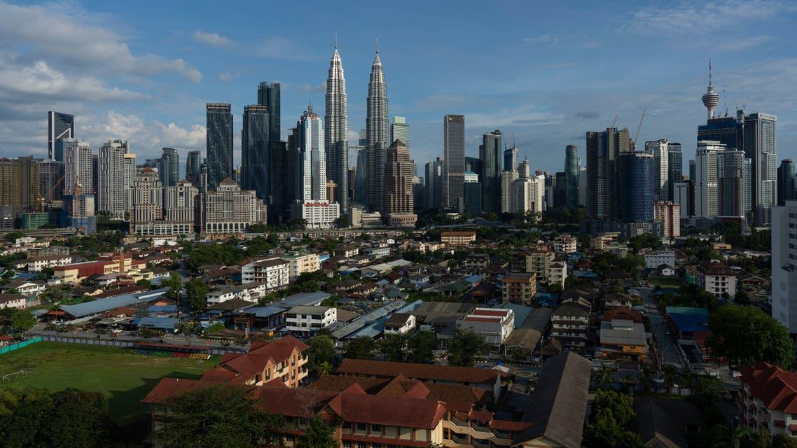 A city view of Kuala Lumpur, during the movement control order, in Kuala Lumpur, Malaysia, on Saturday, May 2, 2020. (AP)