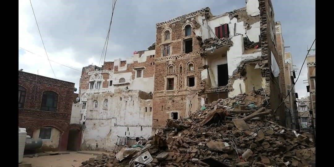 منازل أثرية مهدمة في صنعاء