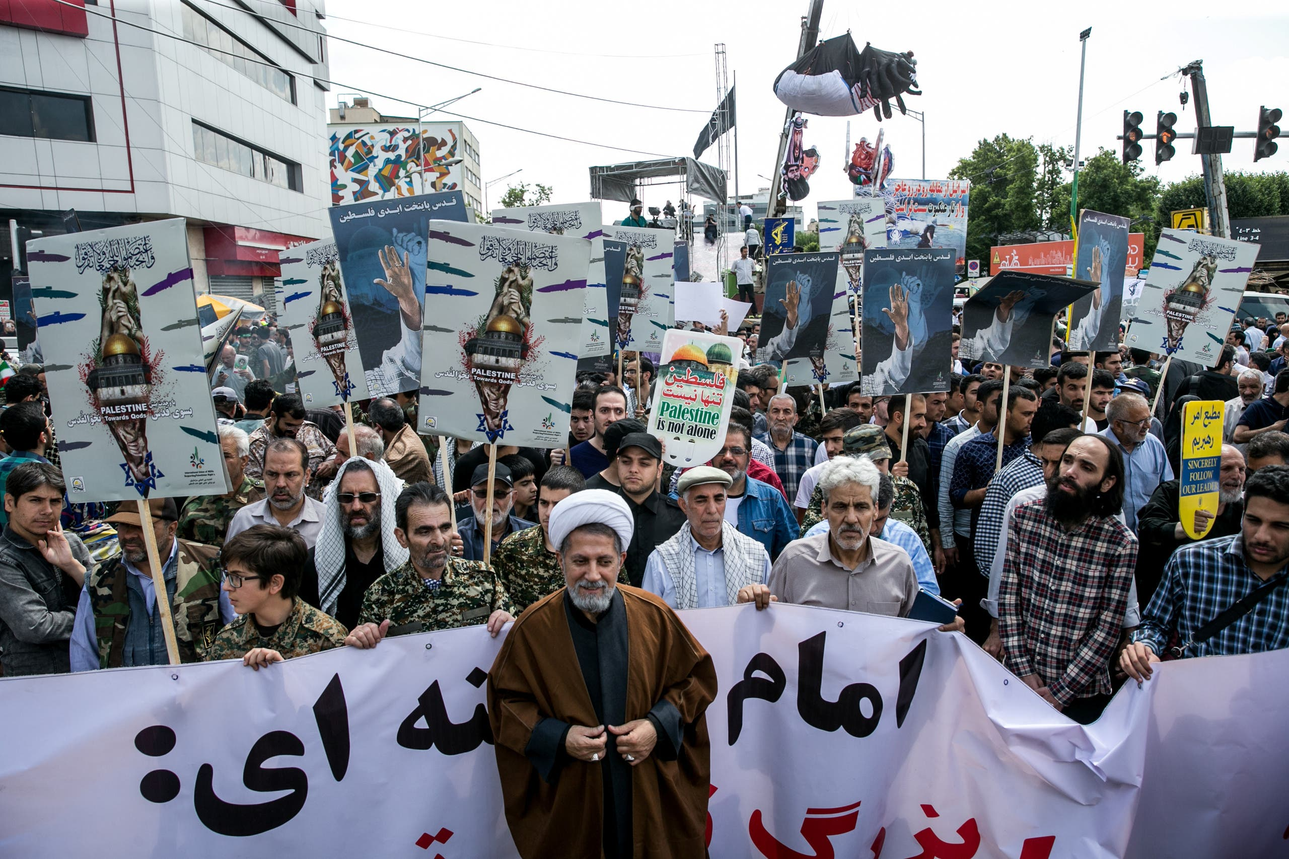 Iranians take part in a protest marking the annual al-Quds Day (Jerusalem Day) on the last Friday of the holy month of Ramadan in Tehran. (File photo: Reuters)
