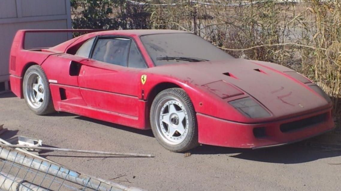 The abandoned Ferrari F40. (Instagram))