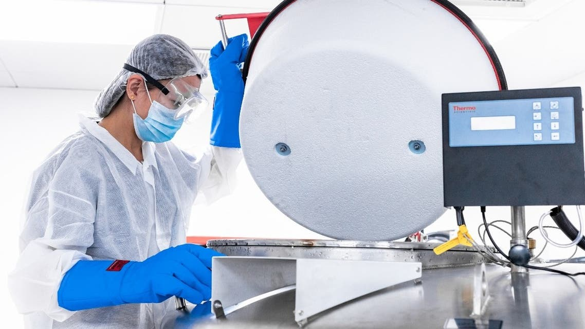 Laboratory staff member at Abu Dhabi Stem Cell Center in the UAE. (WAM)