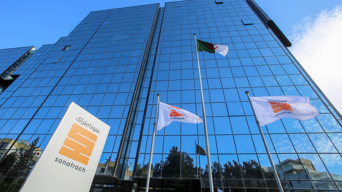 A view of the headquarters of the state energy company Sonatrach in Algiers, Algeria on November 25, 2019. (Reuters)