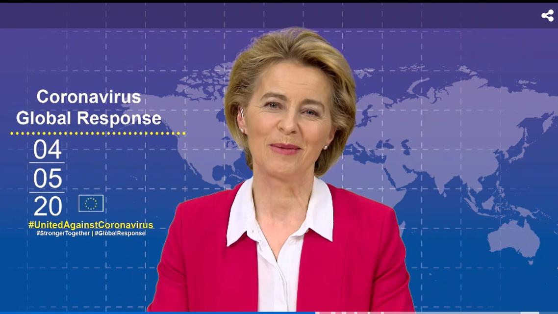 President of the European Commission Ursula Von Der Leyen. (Screengrab)