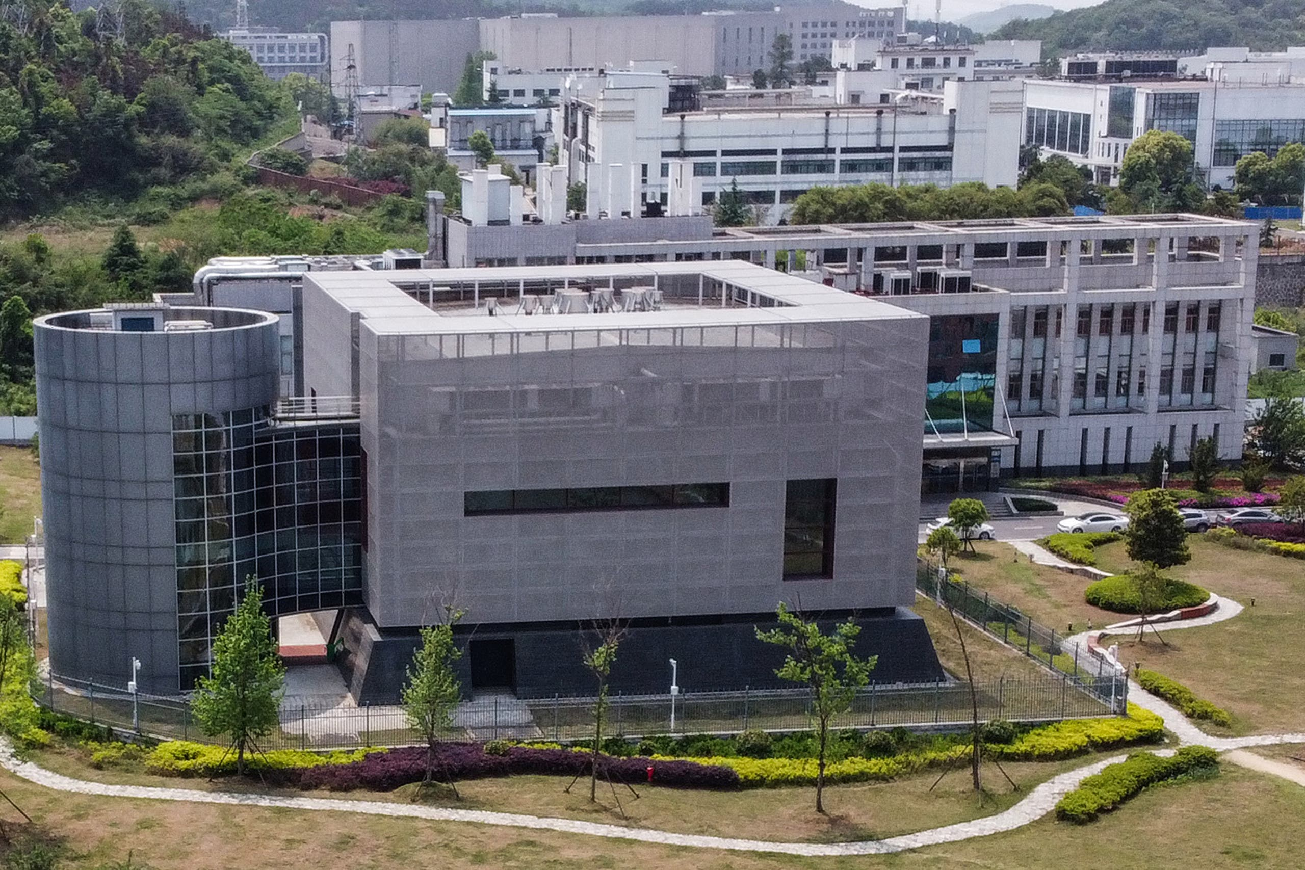 An aerial view shows the P4 laboratory at the Wuhan Institute of Virology in Wuhan in China's central Hubei province on April 17, 2020. (AFP)