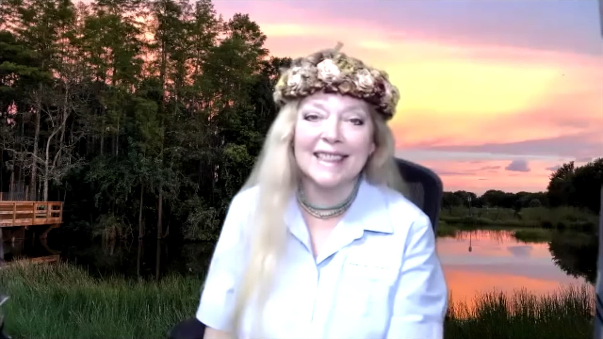Carole Baskin during a YouTube interview. (Screengrab)