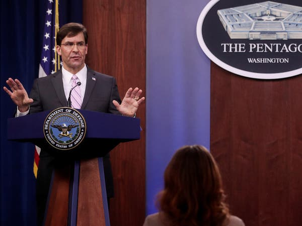 وزير الدفاع الأميركي: لقاح كورونا سيكون جاهزا نهاية العام