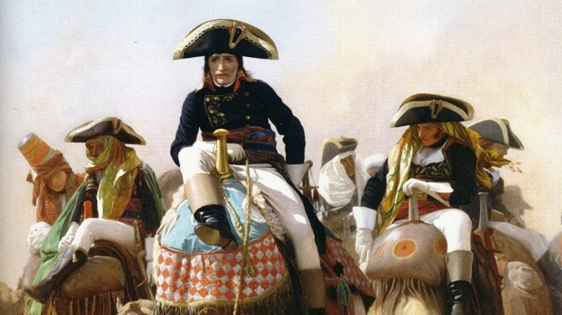 لوحة زيتية تجسد نابليون بونابرت بصحراء مصر عام 1798