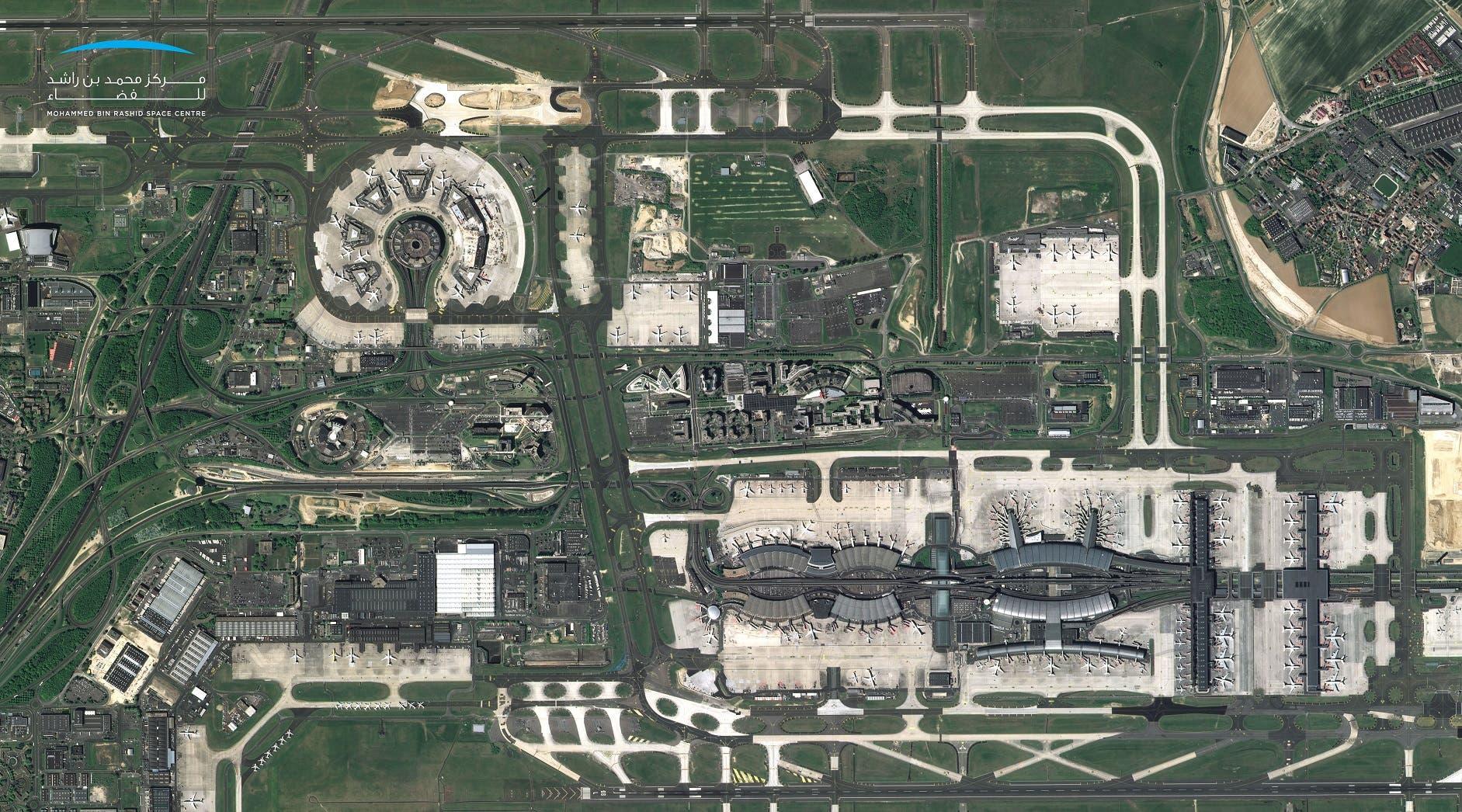 Paris-Charles de Gaulle Airport, France taken by KhalifaSat. (Supplied/MBRSC)