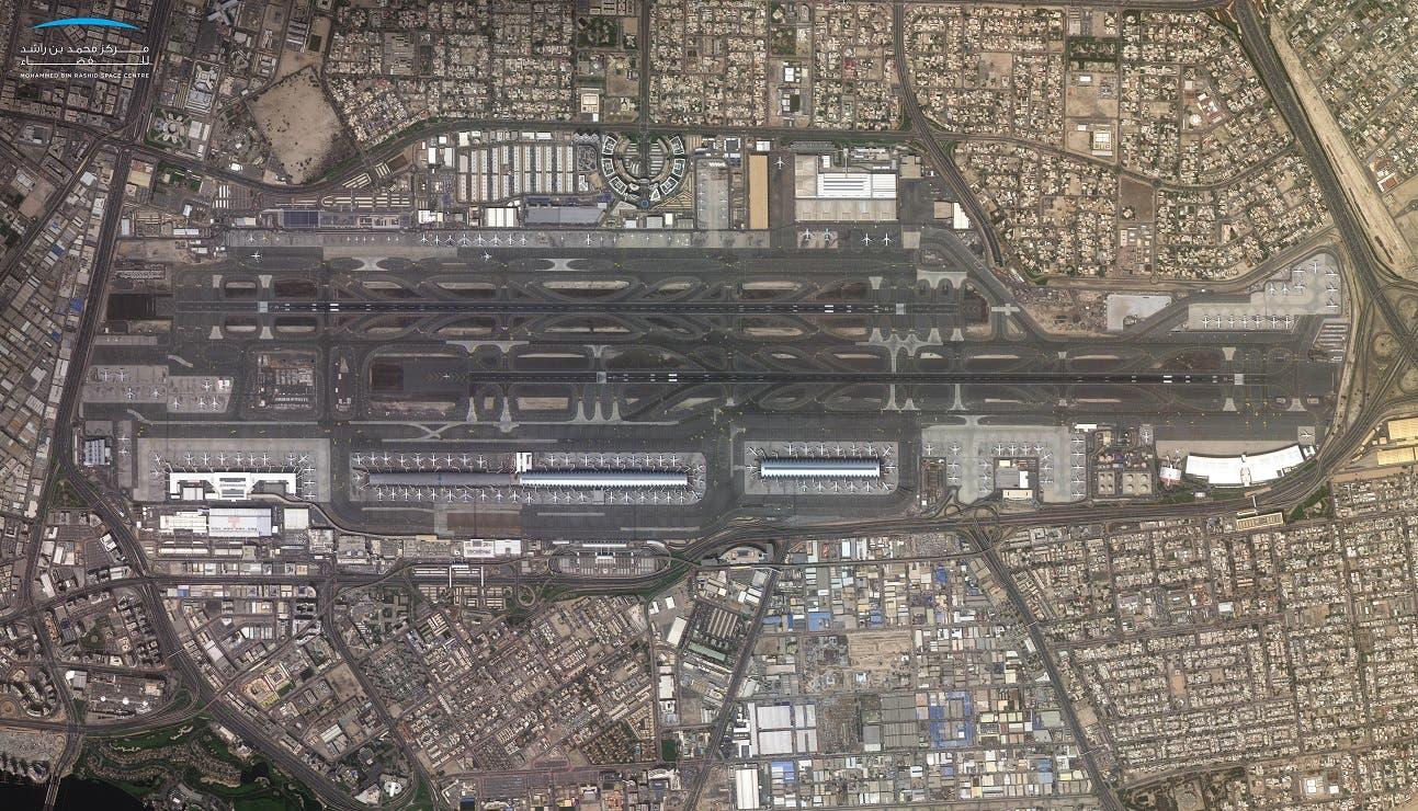 Dubai International Airport, UAE taken by KhalifaSat. (Supplied/MBRSC)