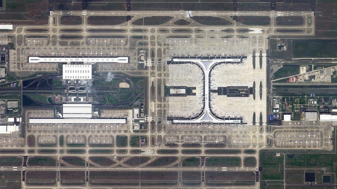 Shanghai Pudong International Airport, China taken by KhalifaSat. (Supplied/MBRSC)