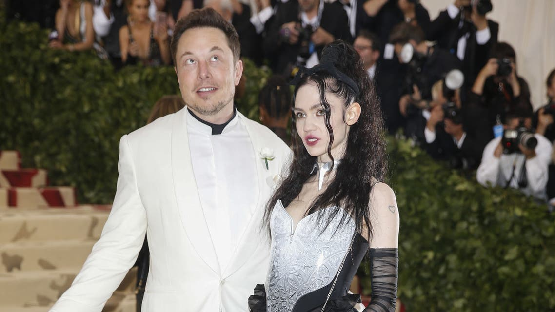 Elon Musk and Grimes arrive at the Met Gala in New York, US, 2018. (File photo: Reuters)