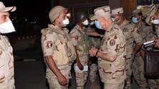 """رئيس الأركان يتفقد كمائن سيناء.. """"لا تهاون بمواجهة الإرهاب"""""""