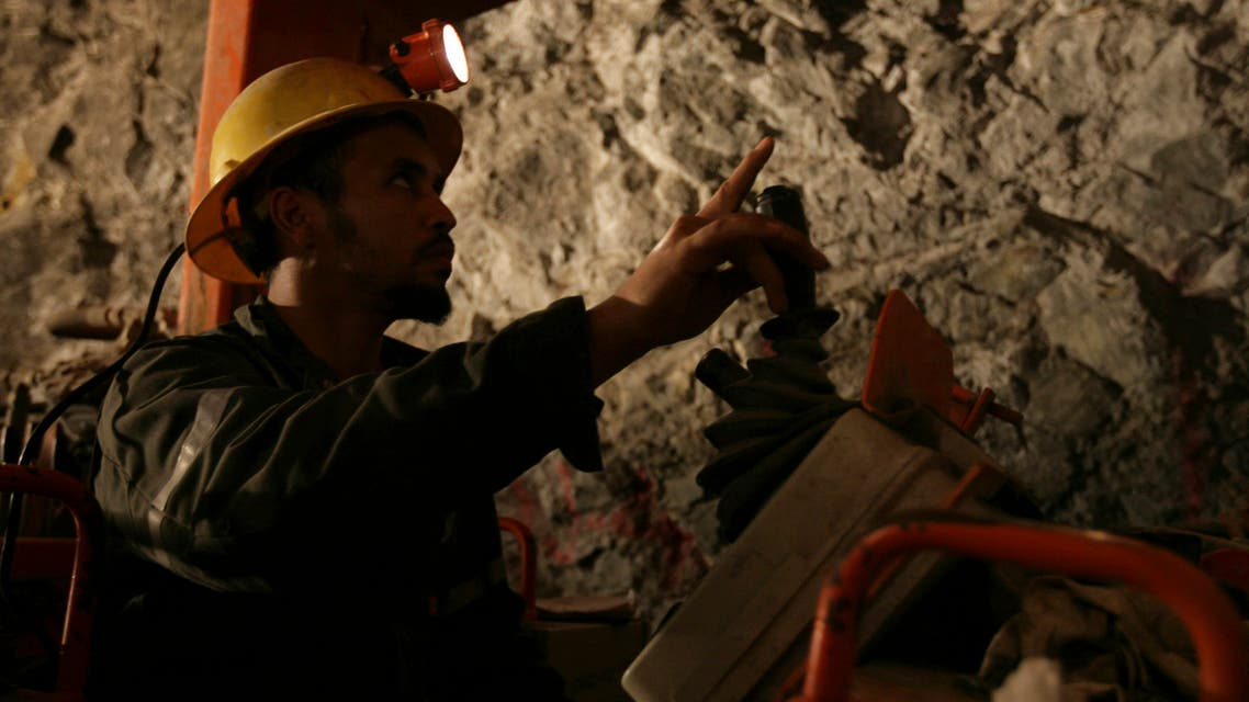 A miner works in the Al Amar gold mine in Saudi Arabia. (File photo: Reuters)