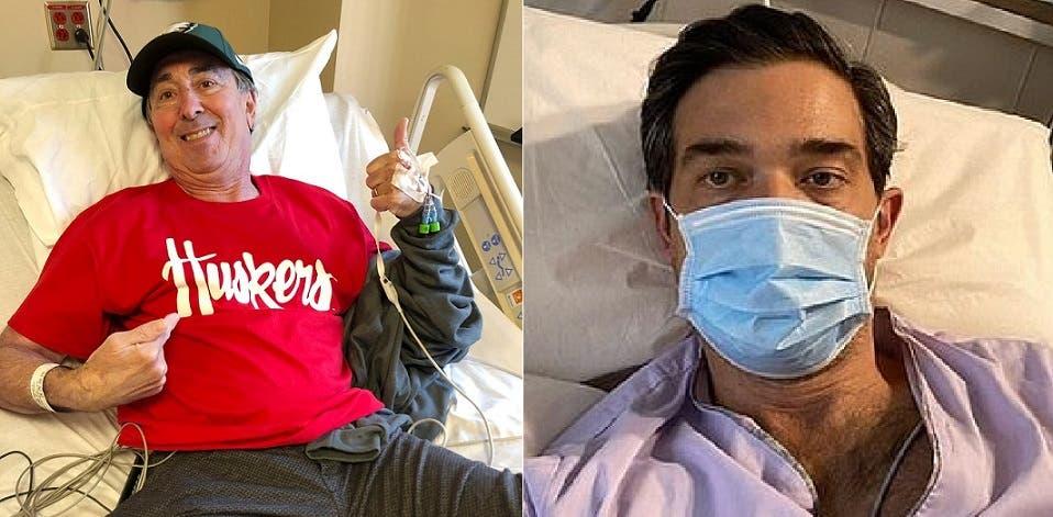 من اليمين، المتعافي السنغافوري، ثم الأميركي المتعافي بين من أصابهم الفيروس في السفينة السياحية