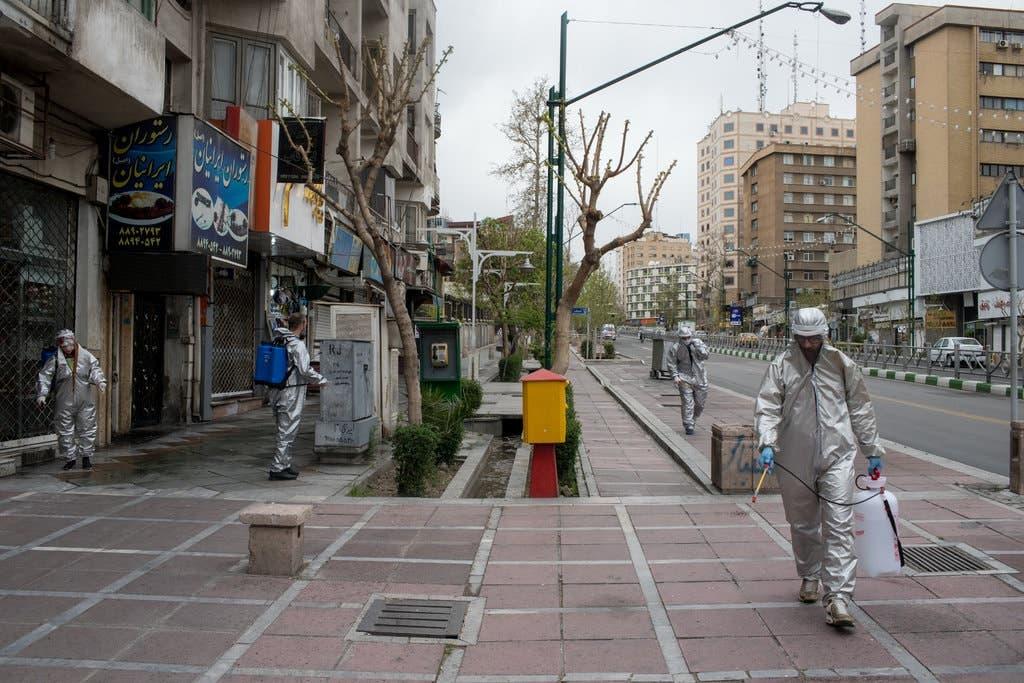 عمليات تطهير الشوارع في طهران