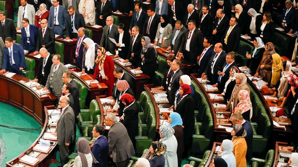 Tunisia's new parliament members take an oath in Tunis, Tunisia November 13, 2019. REUTERS/Zoubeir Souissi
