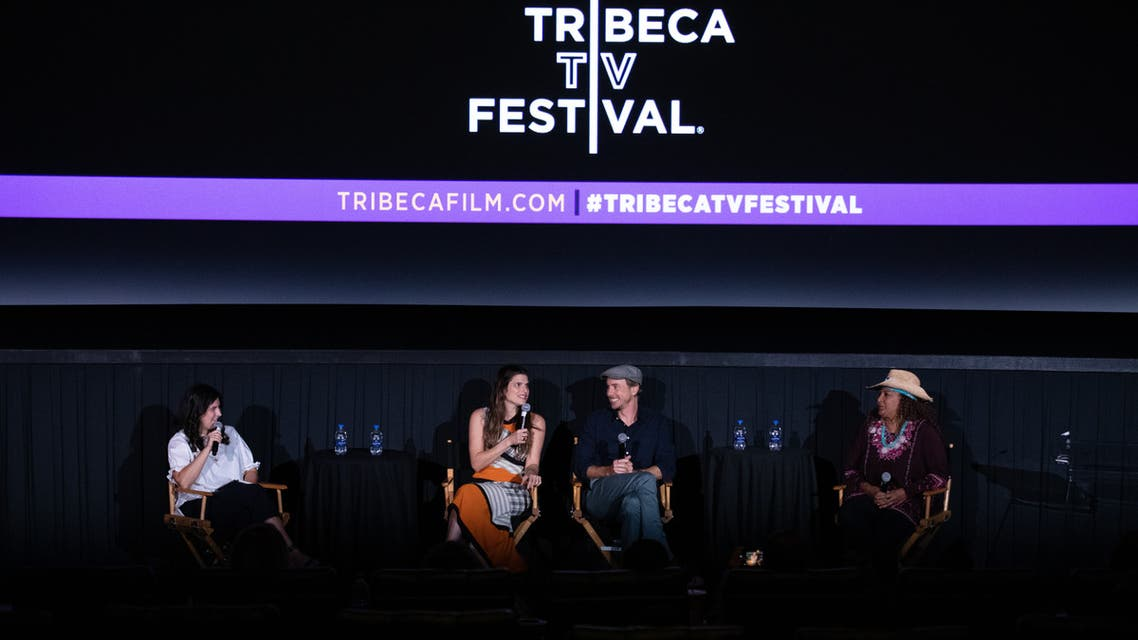 NEW YORK, NEW YORK - SEPTEMBER 14: (L-R) Anna Silman, Lake Bell, Dax Shepard and Pam Grier attend the Bless This Mess screening during the 2019 Tribeca TV Festival at Regal Battery Park Cinemas on September 14, 2019 in New York City. Noam Galai/Getty Images for Tribeca TV Festival/AFP
