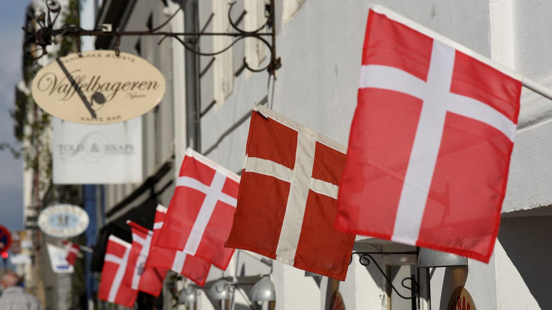 Denmark flags on a cafe. (File photo, Reuters)