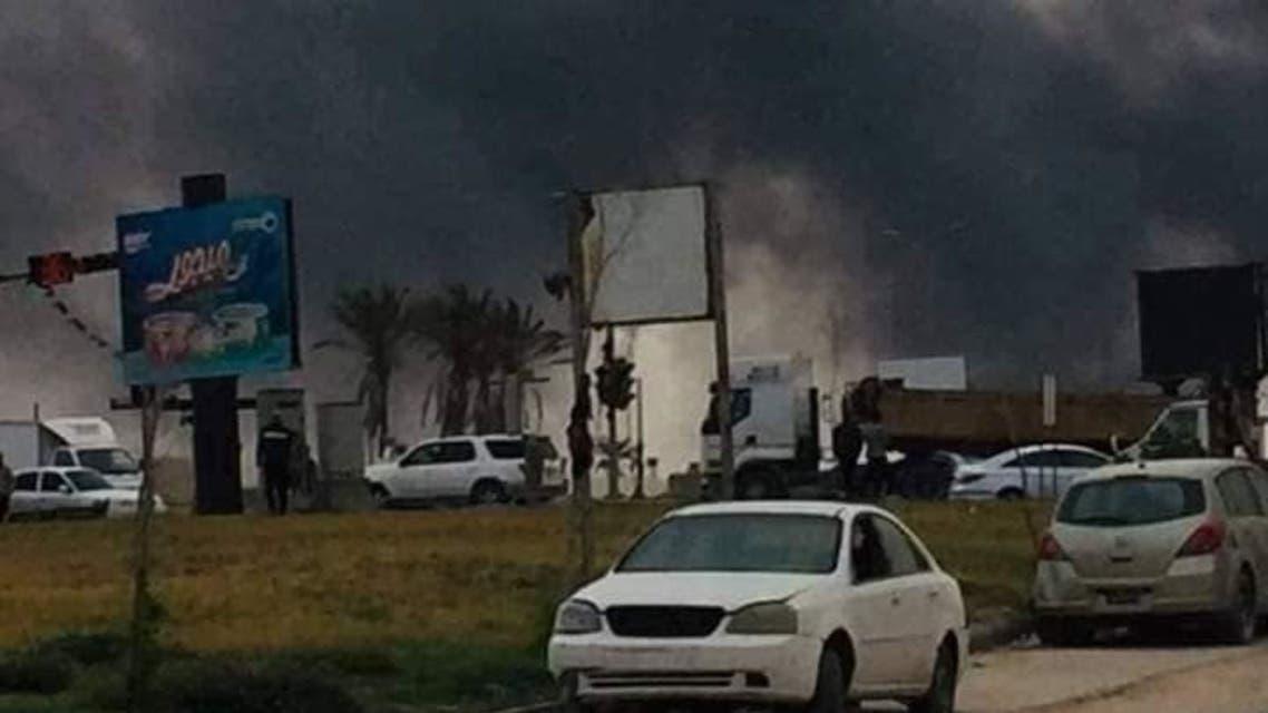 قصف مطار معيتيقة