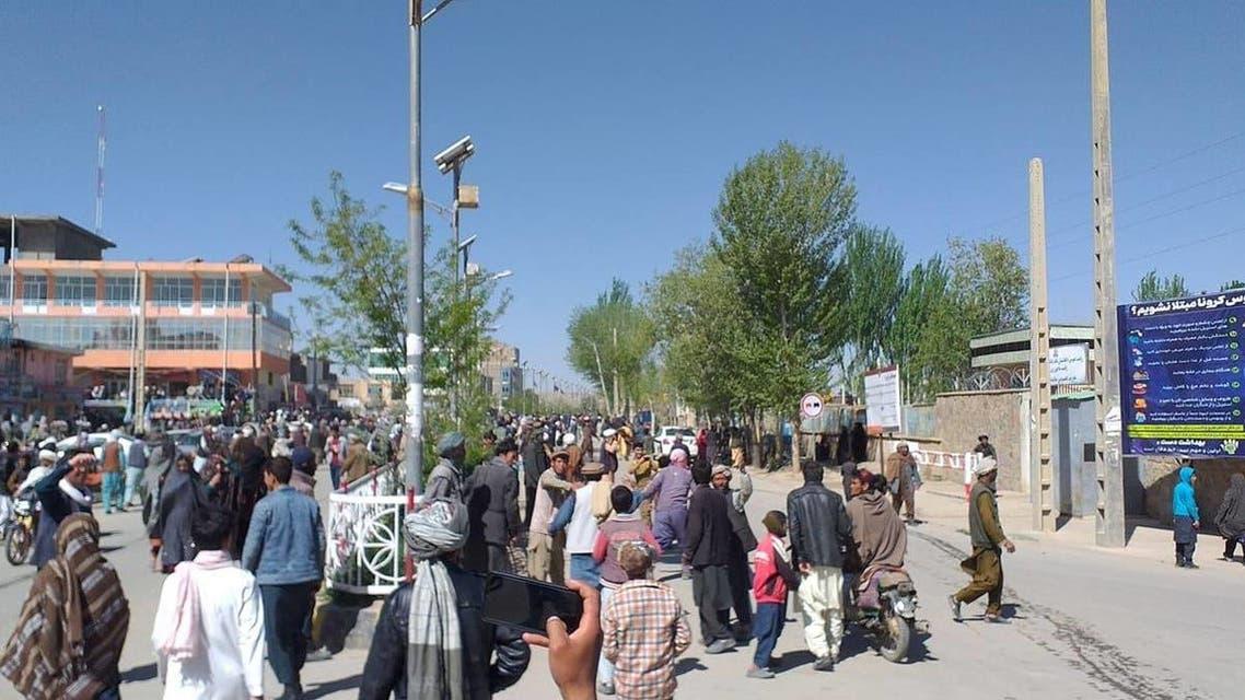 تظاهرات باشندگان ولایت غور افغانستان به خشونت کشیده شد